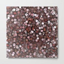 Chocolate Cream Pudding Flower Sprinkles Metal Print