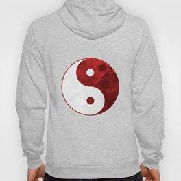Red Yin Yang Symbol Hoody