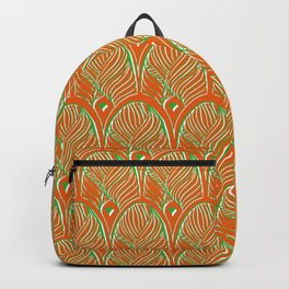 Art-Deco Print - The Gherkin – London - Orange, Green, White Backpack
