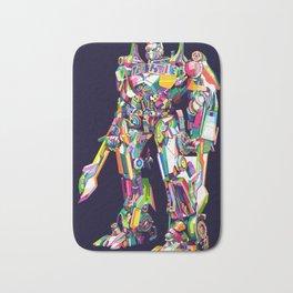 Transformer in pop art Bath Mat