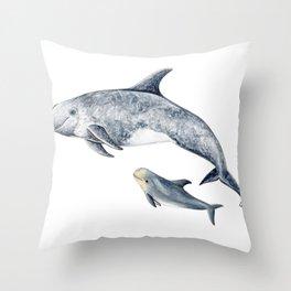 Risso´s Dolphin Throw Pillow