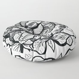 Python and iris flowers Floor Pillow