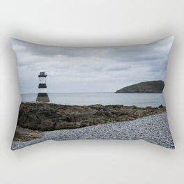 Trwyn Du Lighthouse And Puffin Island Rectangular Pillow