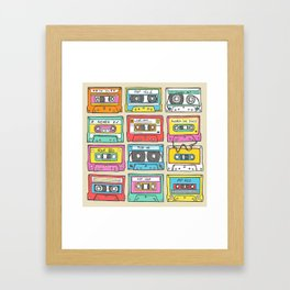 Nostalgia Audio Music Mix Cassette Tape Framed Art Print