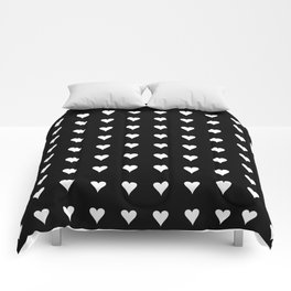 Heart 2 – black and white Comforters