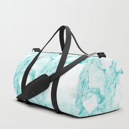 Teal Mermaid Glitter Marble Duffle Bag