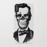 lincoln iPhone & iPod Cases featuring Lincoln Skull by BIOWORKZ