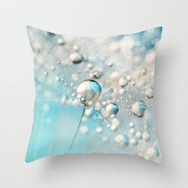 Sparkle in Blue Throw Pillow