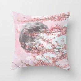 Spring Moon Throw Pillow