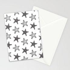 Starfish Black on White Stationery Cards