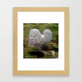 Intertwined Mushrooms Framed Art Print