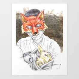 Caring Fox? Art Print