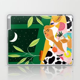 Moon Lover #illustration #feminism Laptop & iPad Skin