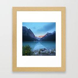 Mountains lake Framed Art Print