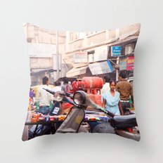 India New Delhi Paharganj 5577 Throw Pillow