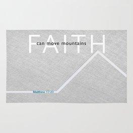 Faith Moves Mountains Rug