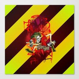 Bomb & Run Canvas Print