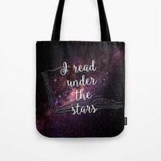 I read under the stars Tote Bag