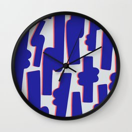 Blue Candy Wall Clock