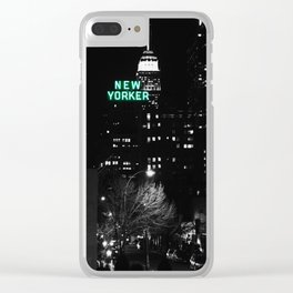 New Yorker : New York City Mint Clear iPhone Case