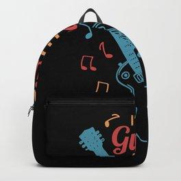 Guitarist Gift Saying Backpack