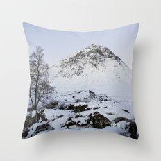 The Buachaille Etive Mor Mountain Throw Pillow