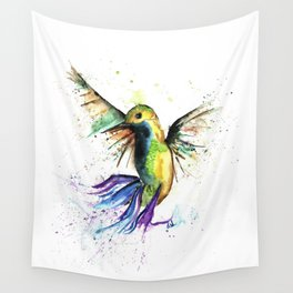 Humming Bird - Ribbons Wall Tapestry