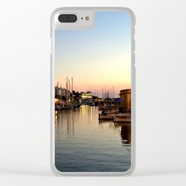 Sunset on Ciutadella Harbor 2 Clear iPhone Case