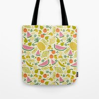 fruit Tote Bags featuring Fruit Mix by Anna Deegan