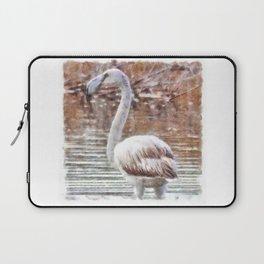 Flamingo Feathers Watercolor Laptop Sleeve