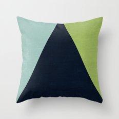 mod triangles - lake Throw Pillow