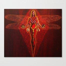 Dragonfly goddess Canvas Print