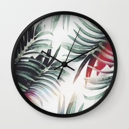 Vintage plants Wall Clock