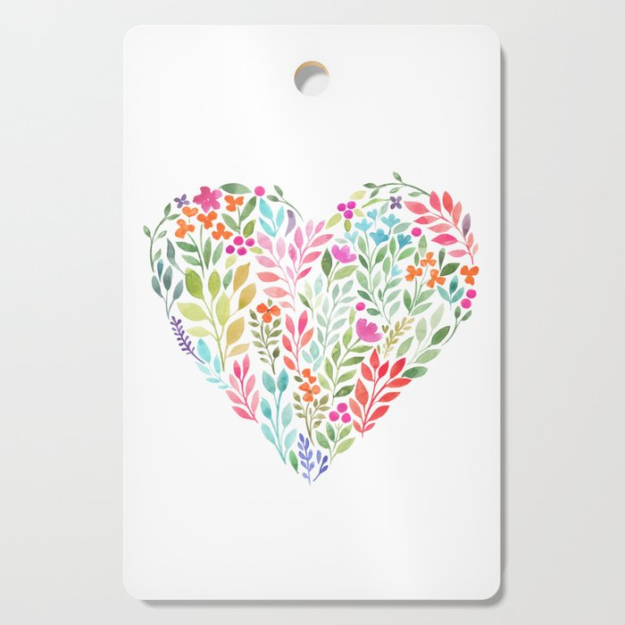 Floral Heart Cutting Board