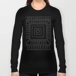 Tribal Print B&W- 02 Long Sleeve T-shirt