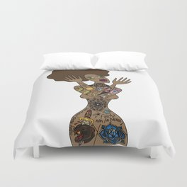 ink my hole body Duvet Cover