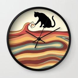 Rainbow cat 1 coffee milk drop Wall Clock