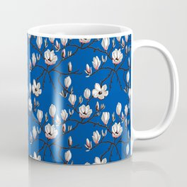 Magnolia blue floral Coffee Mug
