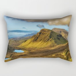Green Mountain (Color) Rectangular Pillow
