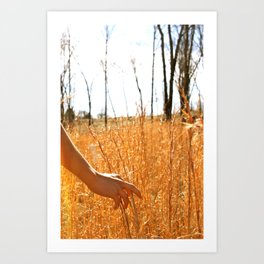 Hands Through Gold Art Print