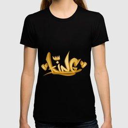 original king word  graffiti tag T-shirt