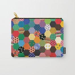 Hexagonal Patchwork Carry-All Pouch