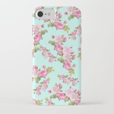 Pink & Mint Green Floral Slim Case iPhone 7
