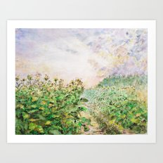 Tobacco Field Art Print