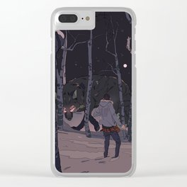 Kitsune at Night Clear iPhone Case