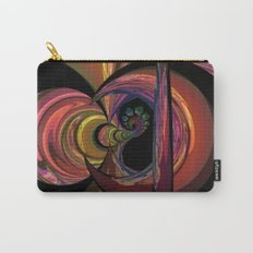 Crescent Moon Fractal Carry-All Pouch