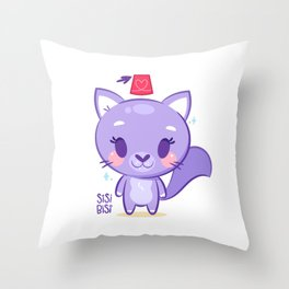 Sisi Bisi the Cat Throw Pillow