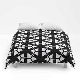 Multi Pattern Black and White Design Comforters