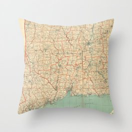 Vintage Map of Connecticut (1823) Throw Pillow