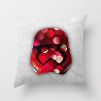 stormtrooper Throw Pillows featuring stormtrooper by ifcha